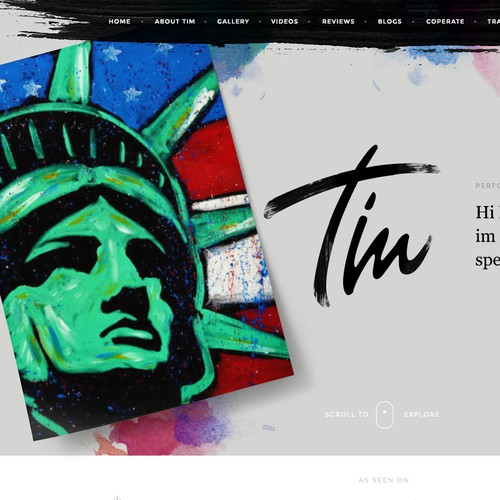 Website redesign for Tim