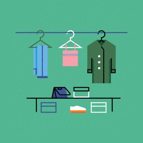 Wardrobe illustration.
