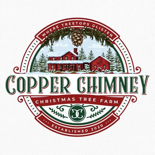 Copper Chimney Christmas Tree Farm