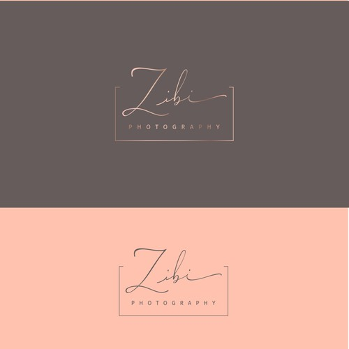Beautiful logo for Zibi Photography new Logo for modern wedding photographer