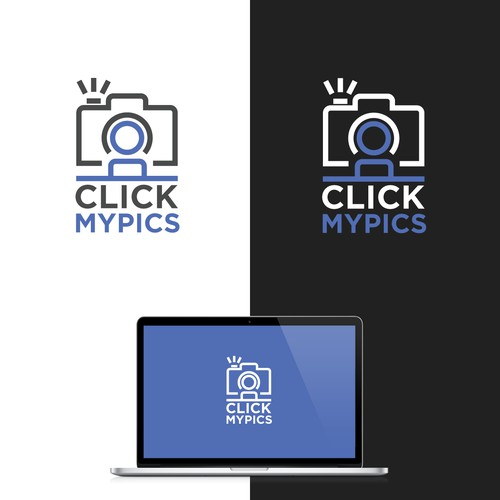 Create a striking logo for a photo studio and e-commerce platform