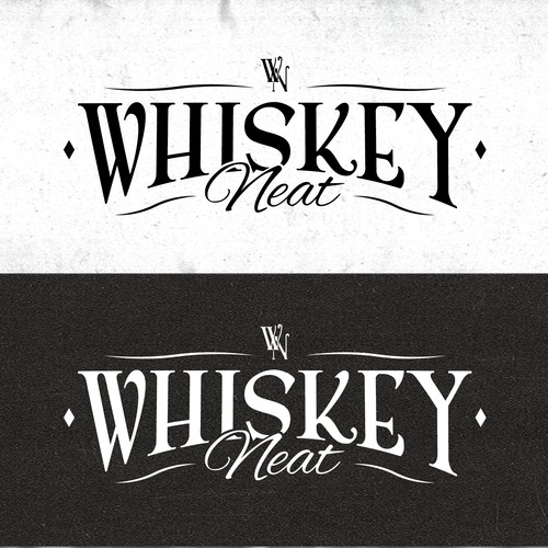 Clean rugged whiskey logo