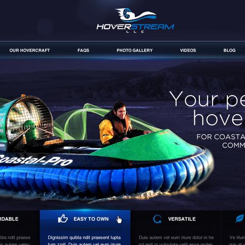 Create the next website design for Hoverstream LLC