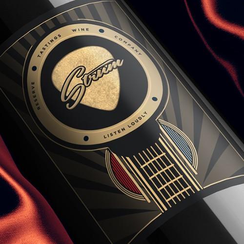 STRUM wine label