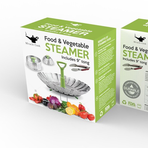 Clean and modern design for a food steamer
