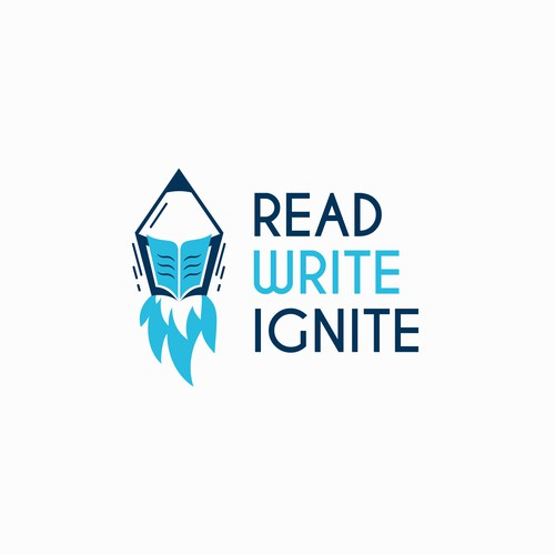 Read - Write - Ignite Logo Design