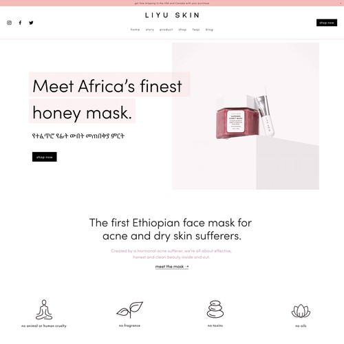 Skincare Website Design