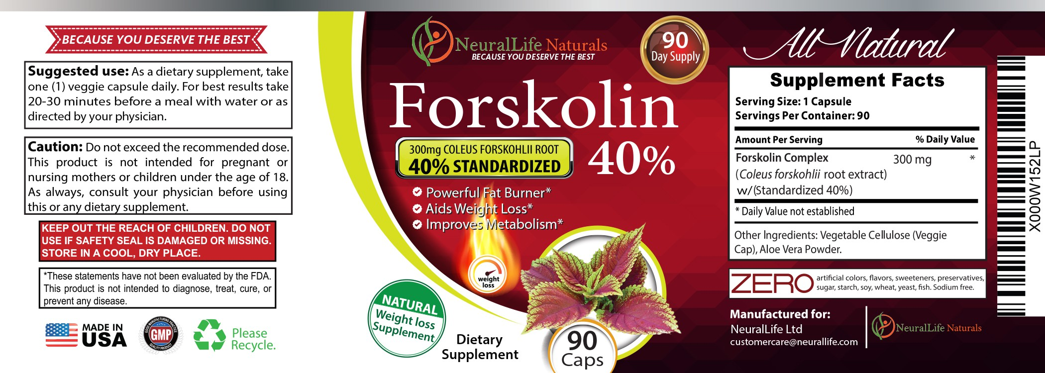 Create an eye-catching product label for a weight loss supplement