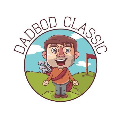 Golf dad mascot