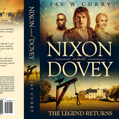 Creative book cover design for a historical fiction novel!
