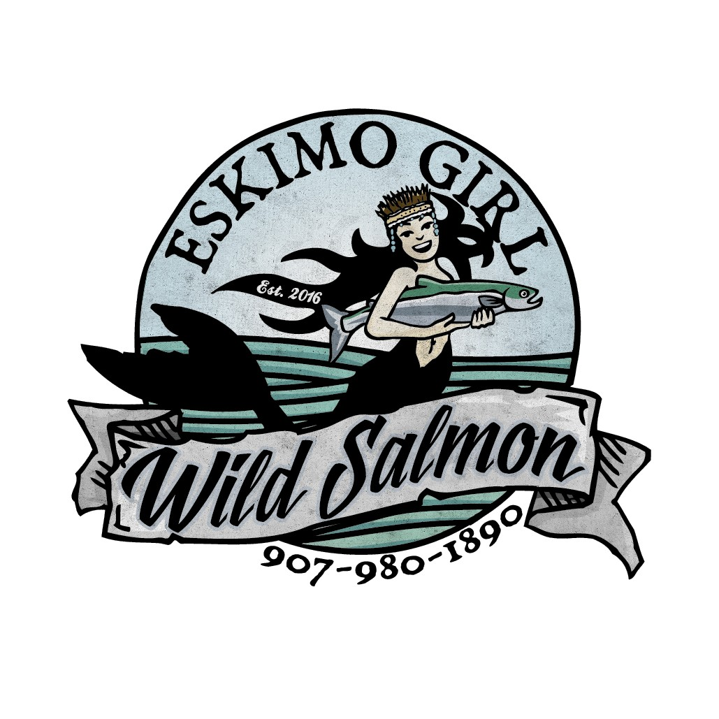 """Eskimo Girl Salmon"" Logo Contest"
