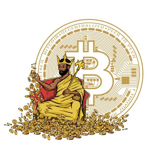 Concept for bitcoin logo