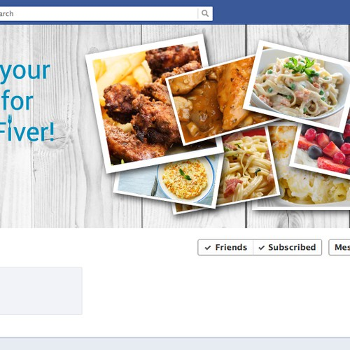Create a Facebook Profile Design that Represents the FiverFeeds.co.uk Brand