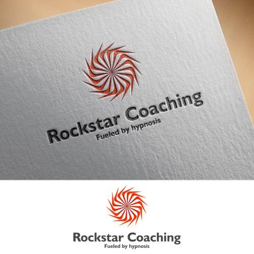 logo design concept for rockstar coaching