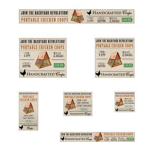 Banner Ad concept for Handcrafted Coops