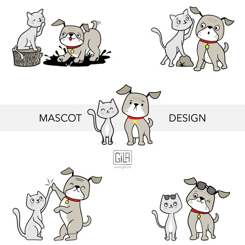 Mascot development and poses