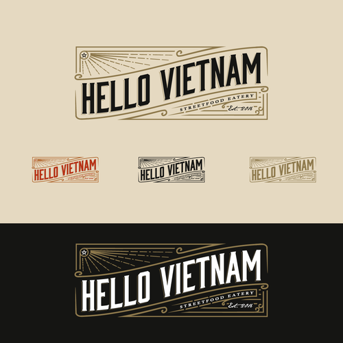 Trendy hip logo for franchise healthy vietnamese eatery