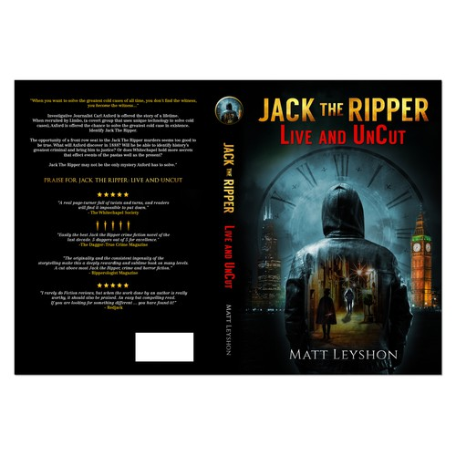 Book Cover Concept for Matt Leyshon's Jack the Ripper Live and unCut