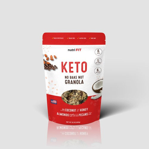 Keto Granola Pouch Packaging Design