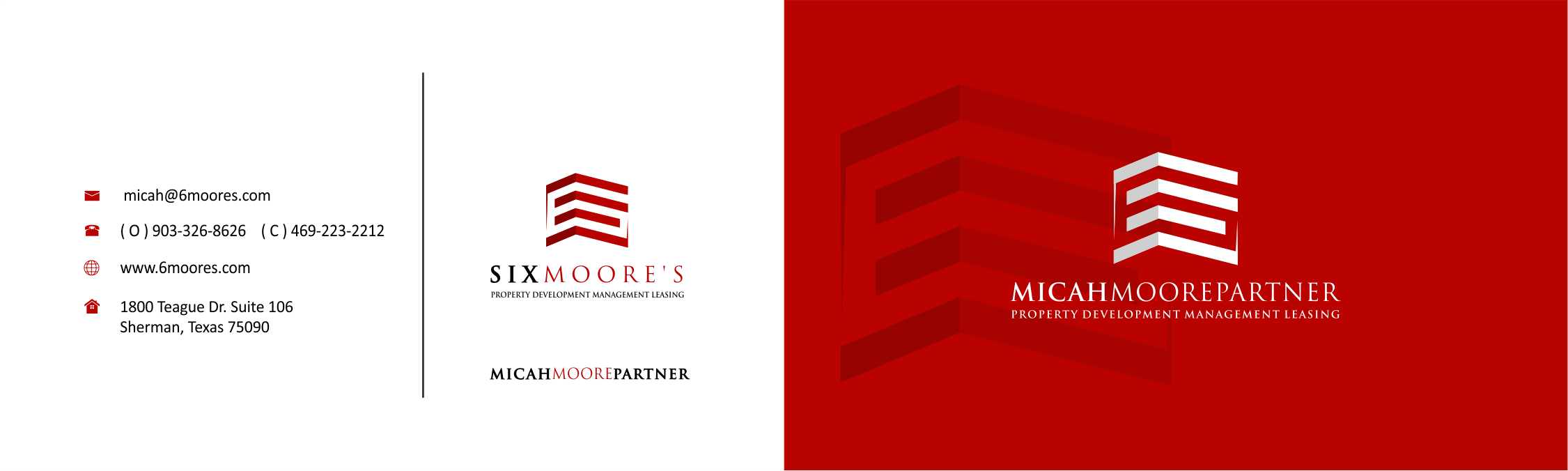 sixmoore's business cards