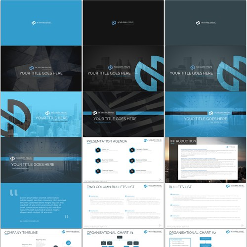 Bold PowerPoint template for NOGUIERA