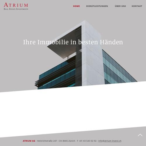 Webdesign für eine Immobilienfirma