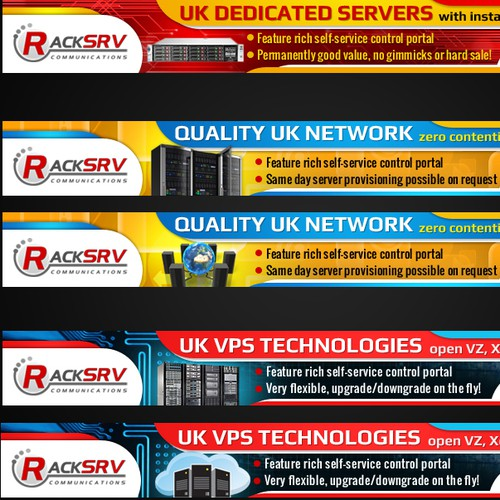 Advertising banners for internet host