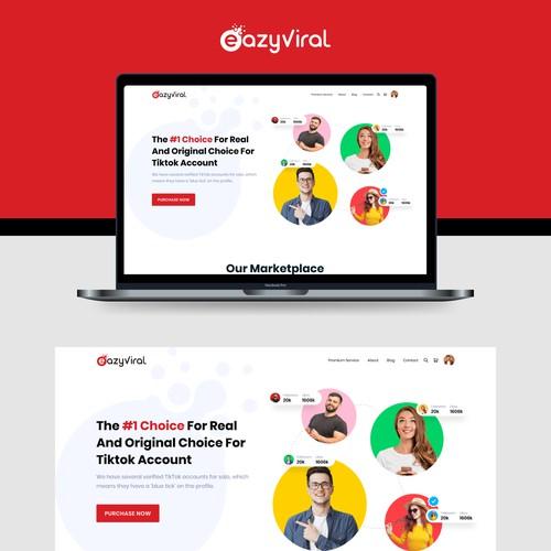 EasyViral Tiktok Service page Redesign