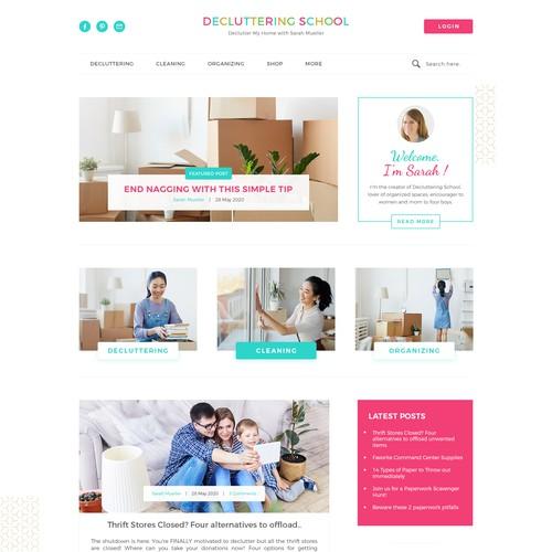 Decluttering School Web Page Design