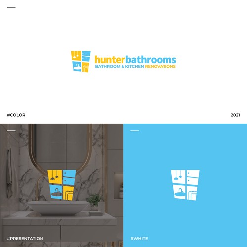 Logo concept for bathroom & kitchen renovation company