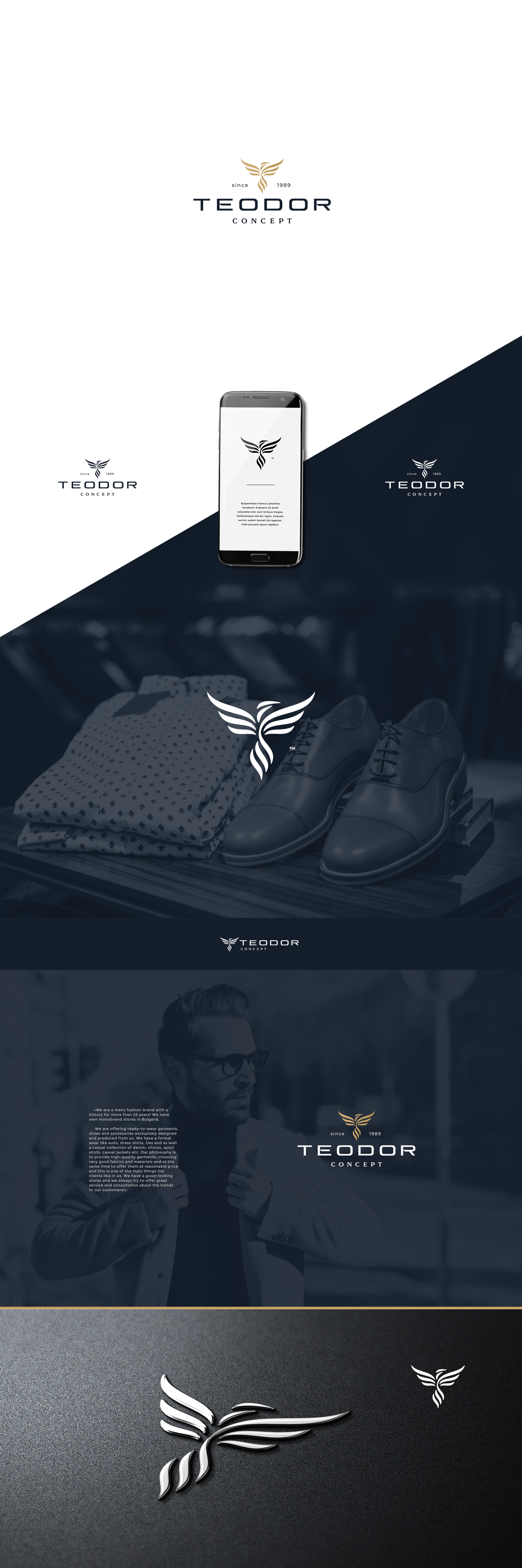 Logo and wordmark for the luxury fashion brand - TEODOR Concept