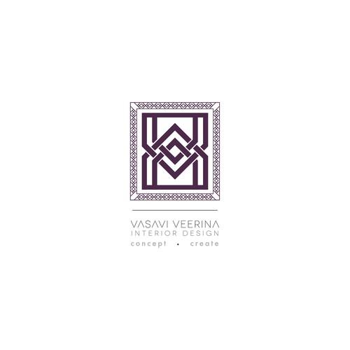 Create the next logo for Vasavi Veerina Interior Design
