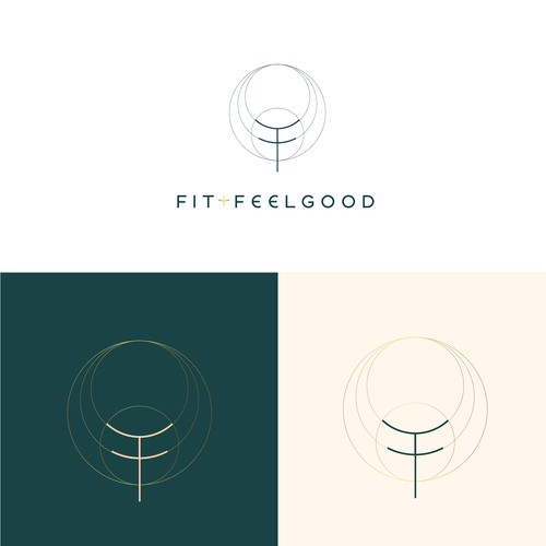 Modern and appealing logo for a women's wellness brand: FIT+FEELGOOD