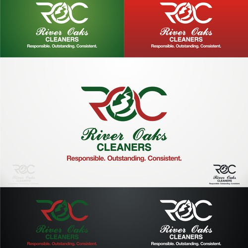 Create a logo design for River Oaks Cleaners brand!