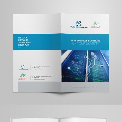Telecommunication/IT company brochure
