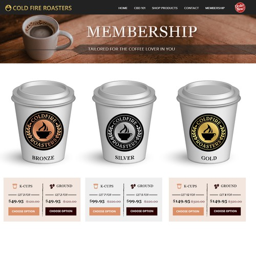Coffee Subscription Plans Graphic Design