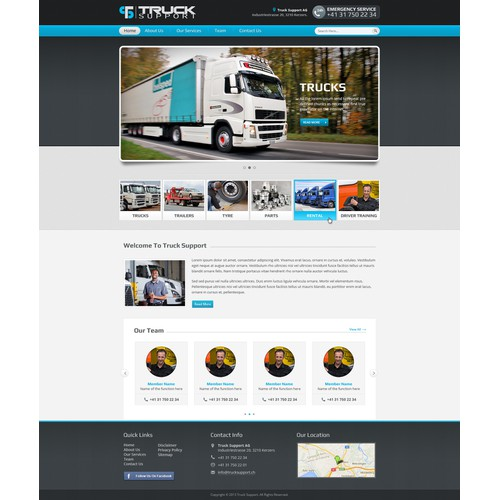 clear website for a truck maintence company