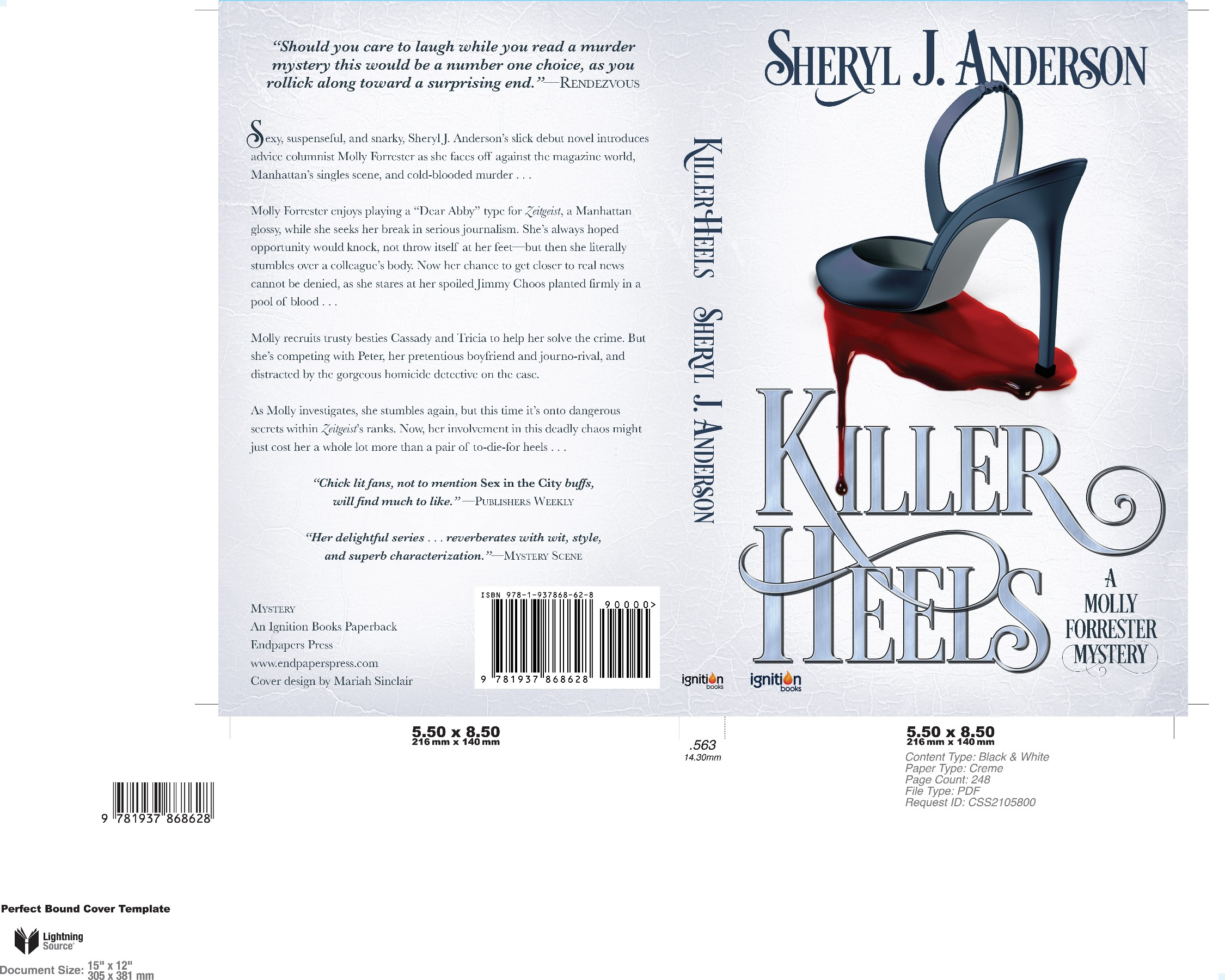 New cover needed for sexy murder mystery (first in four-book series)