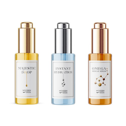 Packaging design for serie of luxury elixirs
