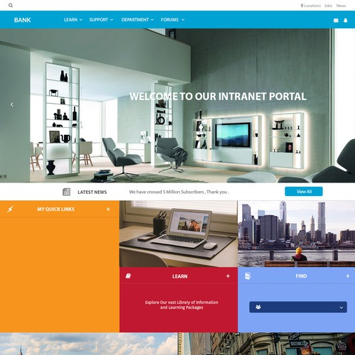 Build a contemporary Intranet Portal