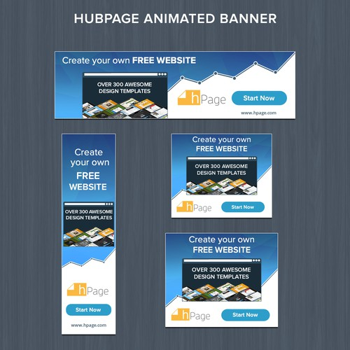 hPage.com - Free Website Builder - Animated Banner Ads