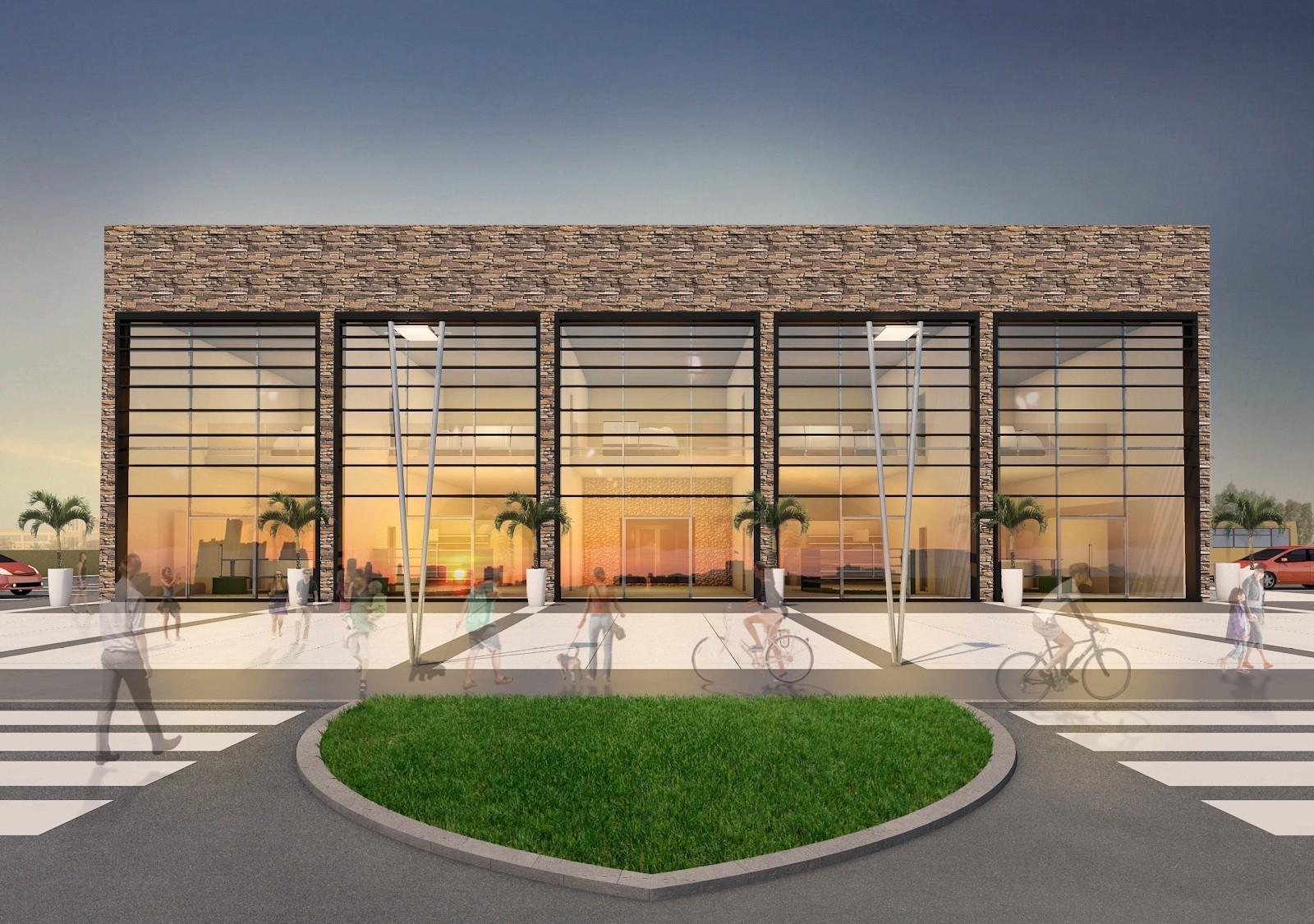 Showrooms 3D building design