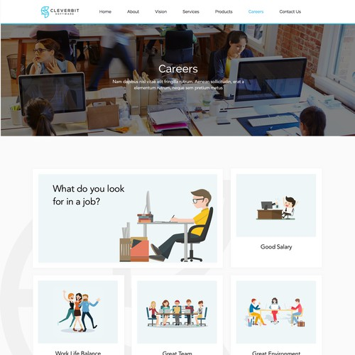 In contest Interactive Careers Page for Software Development Company