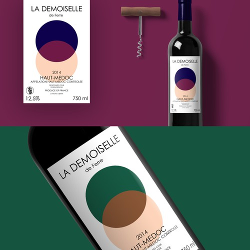 Trendy New Wine Label for French Chateau