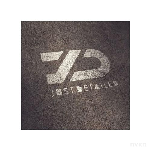 Bold logo design for JustDetailed (JD)
