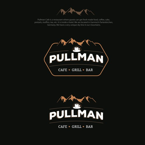 Logo for a contemporary Cafe over the mountains