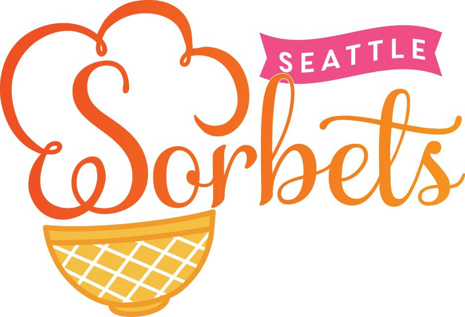 Different direction revisions for seattle sorbet logo design