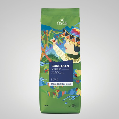 Nicaragua coffee packaging