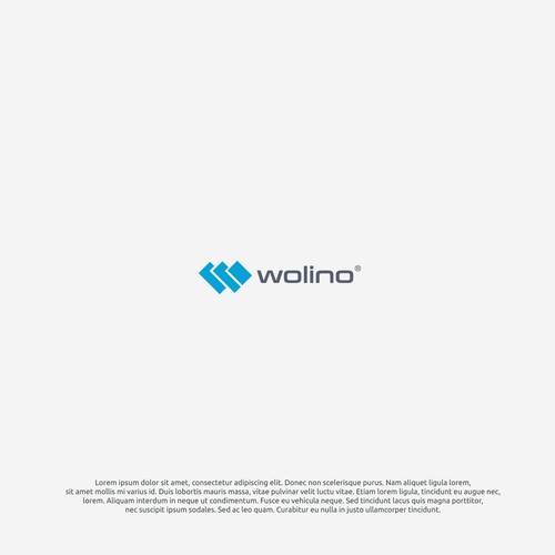 logo concept for wolino