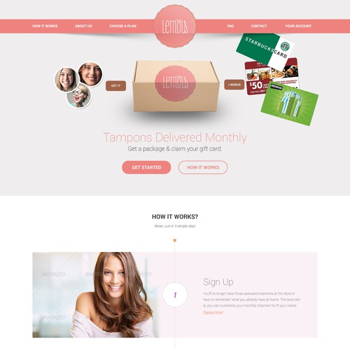 Subscription based website for women